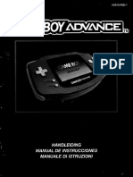 Gameboy Advance Booket Instruction Manual