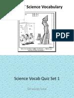 FCAT Science Vocabulary SET 1