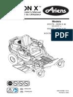 Ariens Ikon X Lawn Tractor Owner's Manual