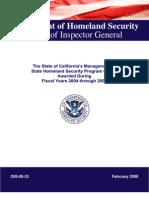 DHS - OIG_09-33 - California EMA Program Audit - 02-2009