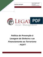 Politica de Prevenção a Lavagem de Dinheiro e Financiamento Ao Terrorismo Legatus 22062018