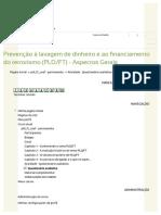 Questionário Avaliativo 2 GABARITO (Com Cabeçalho) - ESAF - Prevenção à Lavagem de Dinheiro e Ao Financiamento Do Terrorismo (PLDFT)