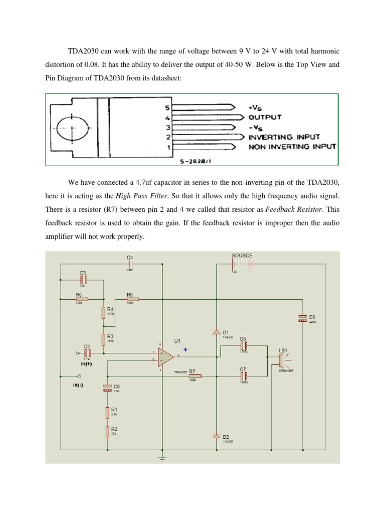 Ck T Construction Tda2030 40w Power Amplifier Circuit Diagram