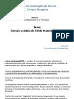Ejemplo Practico de Bill de Materiales-Avion