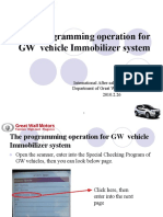Programming Operation for GW Vehicle Immobilizer System