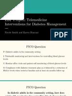 ebp project  telemedicine interventions for diabetes management