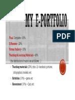 My E-Portfolio Assessment