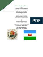 Himno Del Estado Barinas