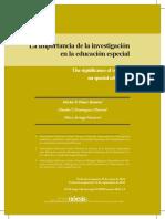 Importancia de La Investigacion en Educacion Especial
