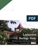 Launceston Heritage Study 2007