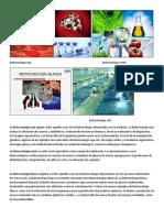 Biotecnologia Roja Biotecnologia Verde.