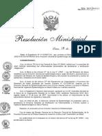 Rm Directiva Sanitaria Minsa Notificacion de Enf y Even Sujetos a Vigilancia