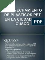 Aprovechamiento de Plásticos Pet