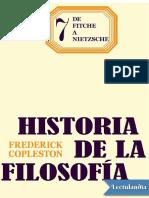 Copleston Tomo 7 de Fitche a Nietzsche