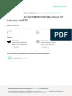 Assay ciprofloxacin