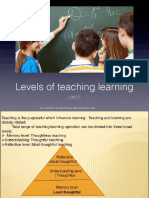 Levels of Teaching Learning