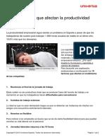 10 Factores Afectan Productividad Empresarial