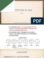 Attitude Scale