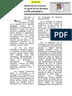 Articulo -Aprovechamiento de Los Recursos Tecnológicos Por Parte de Los Docentes en El Desarrollo Pedagógico
