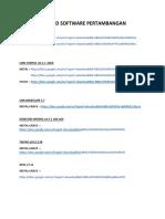 Link Download Software Pertambangan