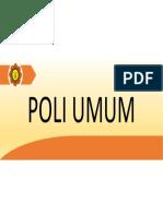 Poliklinik Umum SD