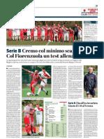 La Provincia Di Cremona 19-10-2018 - Serie B