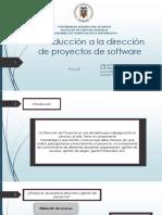 Introducción a La Dirección de Proyectos