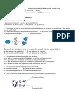 Evaluacion Clases Reacciones Quimicas