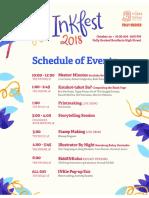 INKFest2018 Schedule
