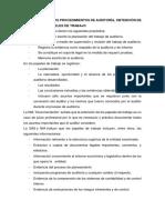 El Programa y Los Procedimientos de Auditoría, Obtención de Evidencias y Papeles de Trabajo