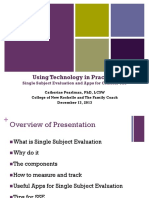 using technology in practice- single subject evaluation and apps for clinical use