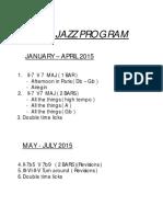 2015 Jazz Program