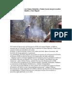 Incendios Forestales en Llama Quincha y Santa Lucía Son Provocados Por Moradores de Chimbo y San Miguel