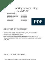 Solar tracking system using rtc ds1307.pptx