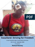 Swaziland Striving for Freedom Vol 31 July to September 2018