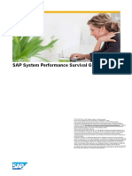 SAP System Performance Analysis Survival Guide