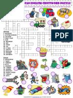 British and American English Words Crossword Criss Cross Puzzle Esl Worksheet