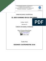 UNED - El Ser Humano en Su Entorno - Orientacion Academica