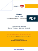 Pass  Cisco 300-115 CCNP Exam In First Attempt