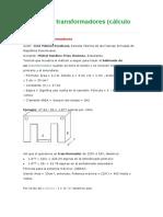 Cálculo de Transformadores