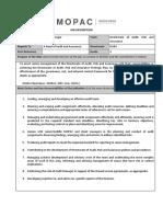 Audit Manager - Job Description