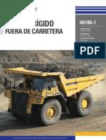 Catálogo Camión HD785 7E Español Digital