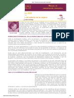 Carme Valls Llobet - Las Causas Orgánicas Del Malestar de Las Mujeres - MyS - Revista de Comunicación Interactiva