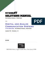 Digital and Analog Communication Student Solutions Manual International Edition