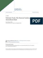 Barnett Lidsky, Lyrissa, Nobodys Fools_ the Rational Audience as First Amendment Ideal