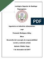 Concepto Desarrollo Responsabilidad Social y Contexto Actual
