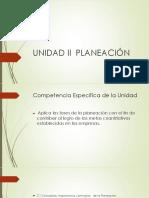 Unidad II Planeación