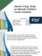 Parameter Yang Diuji Dalam Metode Validasi Suatu Analisis