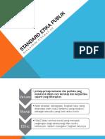 Standar Etika Publik Pim III Agustus 2014