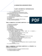 Programa de La Asignatura Geografía Física